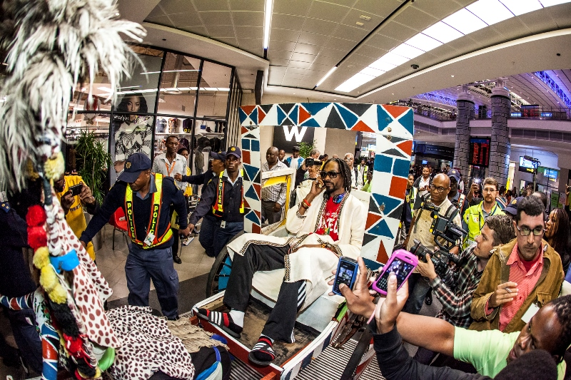 Snoop Lion Arriving At Durban King Shaka International Airport for MTV Africa All Stars KwaZulu-Natal - picture by Al Nicoll Photography (2)