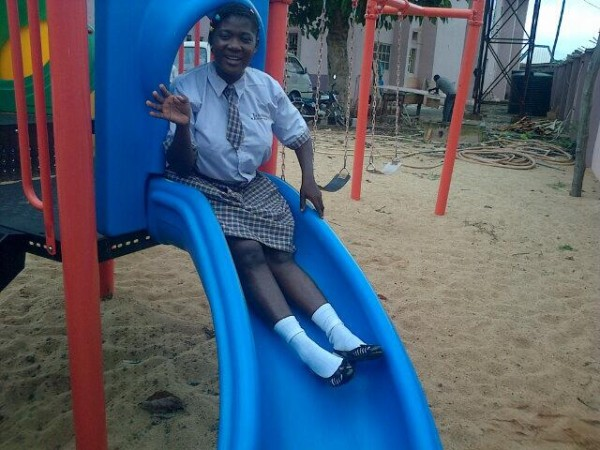Mercy Johnson Dumebi Goes To School