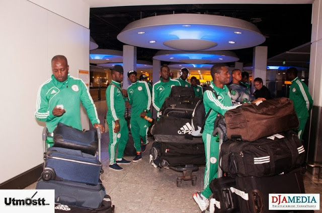 Super Eagles Arriving at Heathrow -47