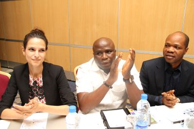 (1) CEO Reloaded magazine Jenny Tan, Gbenga Adeyinka and MTN Manager high value Mr. Kelvin Orifa