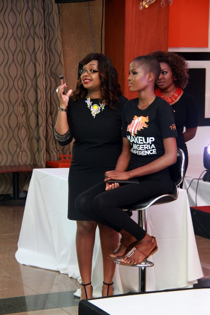 Joy Adenuga at the Make up master class