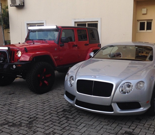 In Photos: Peter Okoye shows off P-Square's Car Collection ...