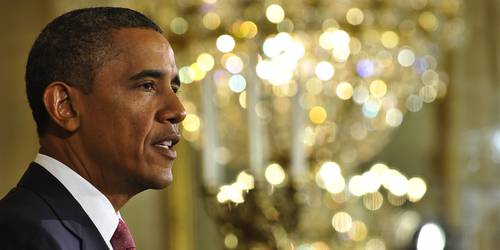 US President Barack Obama speaks in the
