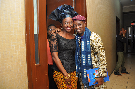 Kate Henshaw and Tunde Kelani