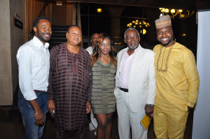 OC Ukeje, Jide Kosoko, a Friend, Olu Jacobs and Adebola Williams