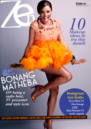 Zen Magazine Africa October 2014 Cover with Bonang Matheba