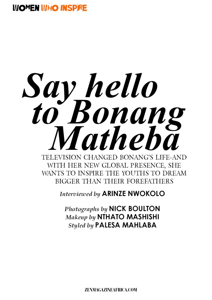 Zen+Magazine+Interviews+Bonang+Matheba+African+Media+Star+2014