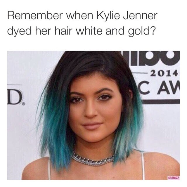 black and blue kylie jenner