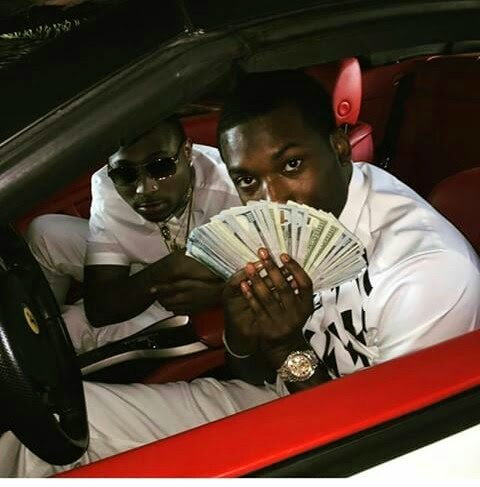 davido and meek mill fans mi