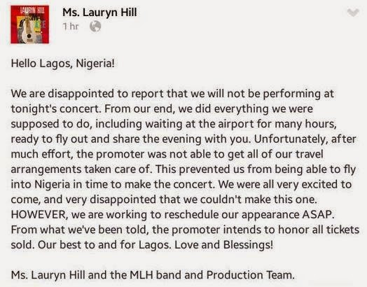 lauryn hill lagos