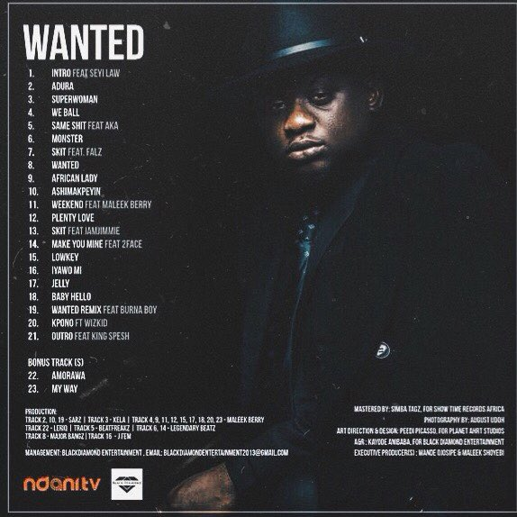 Wanted-tracklist