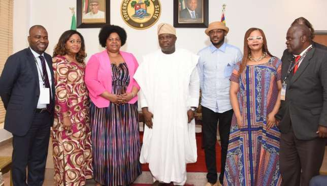 AFRIMA-delegates-pose-with-the-Governor-of-Lagos-state