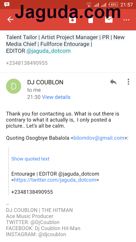DJ Coublon Responds To Signing With Don Jazzy Mavin Records