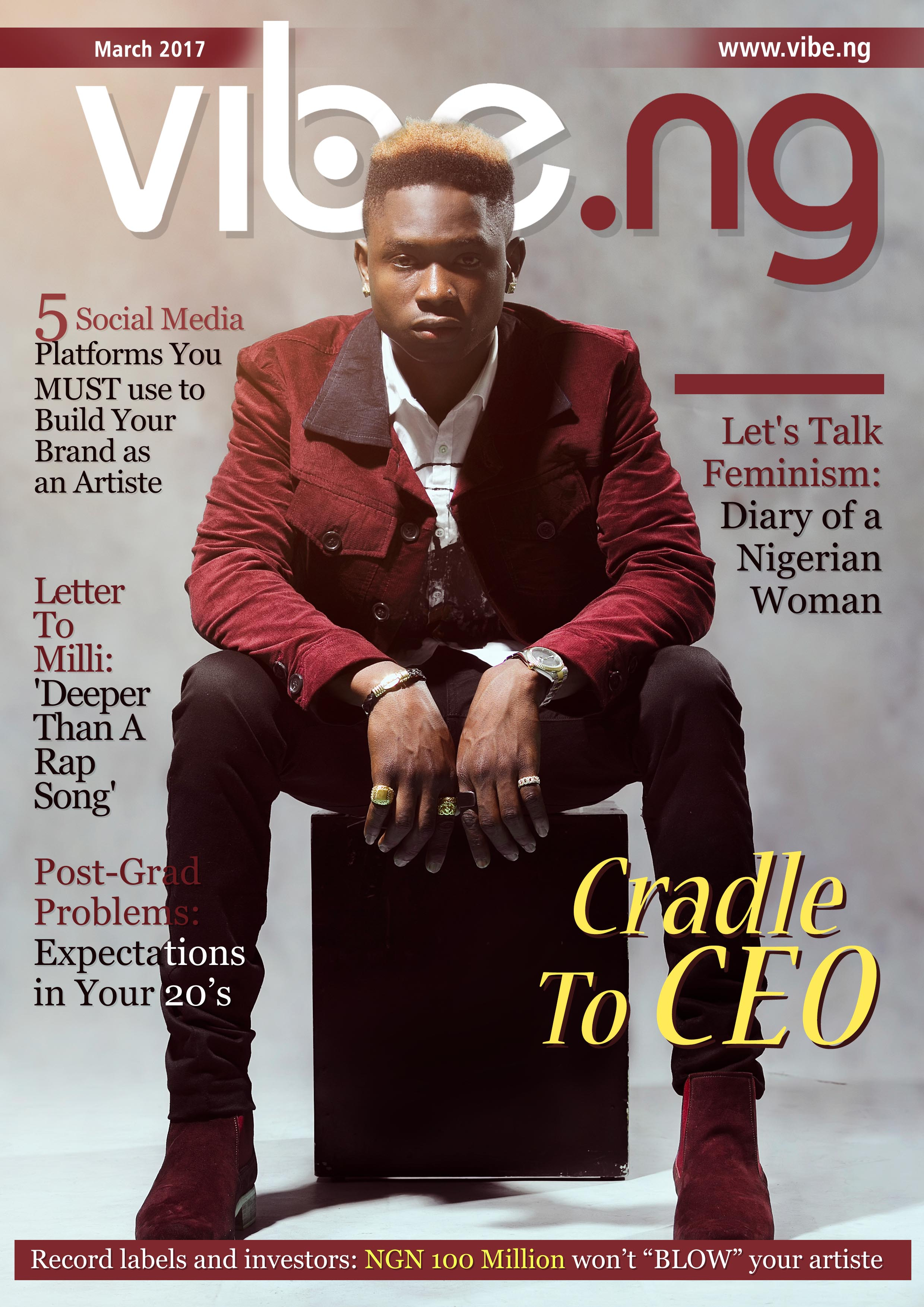 Lil Kesh Covers the March 2017 Issue of Vibe.ng Magazine ...