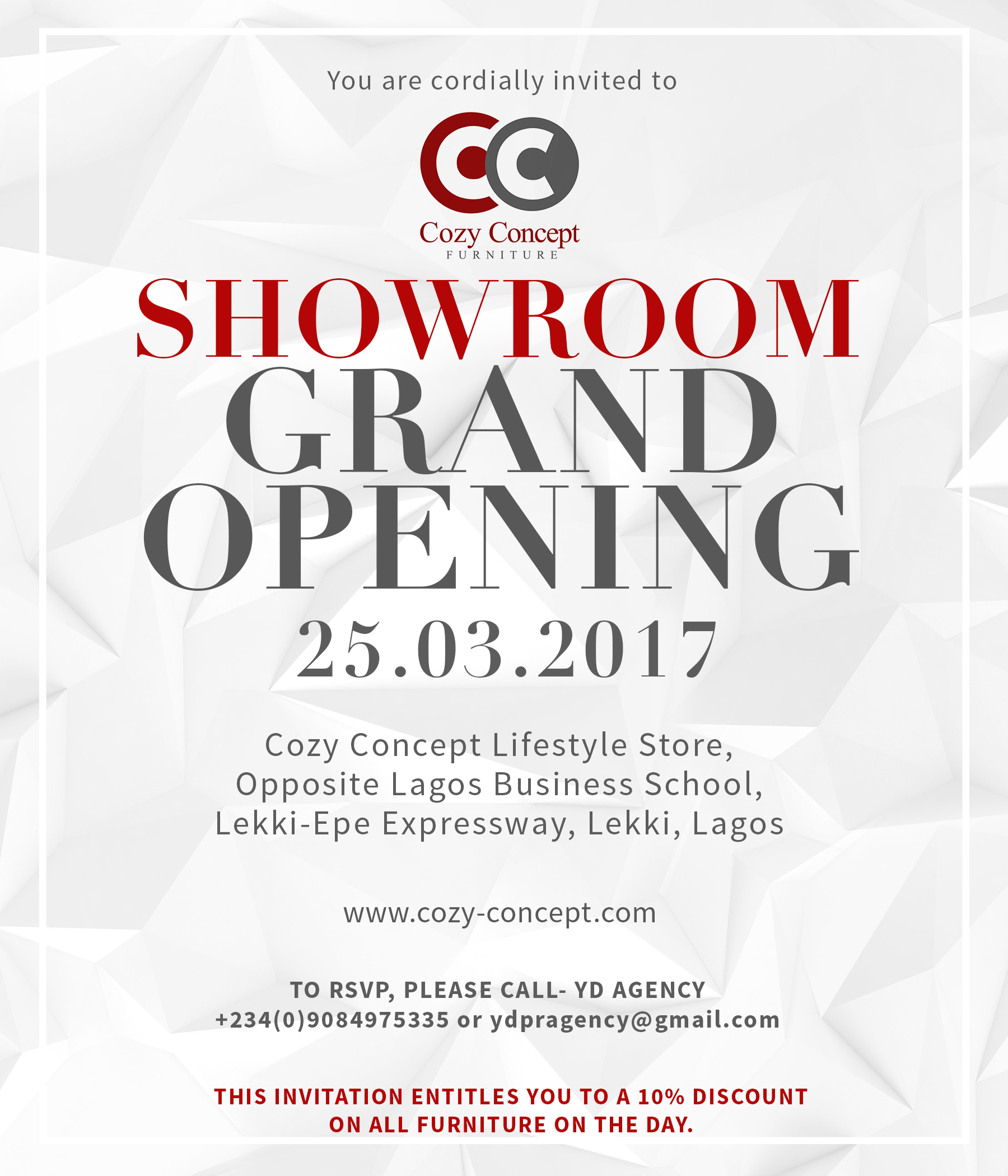 Cozy Concept Showroom Grand Opening Jaguda Com