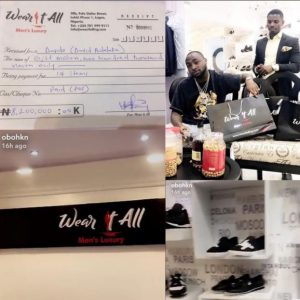 Davido spends big on luxury items