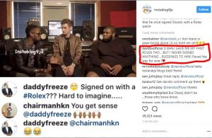 Davido Replies D'banj