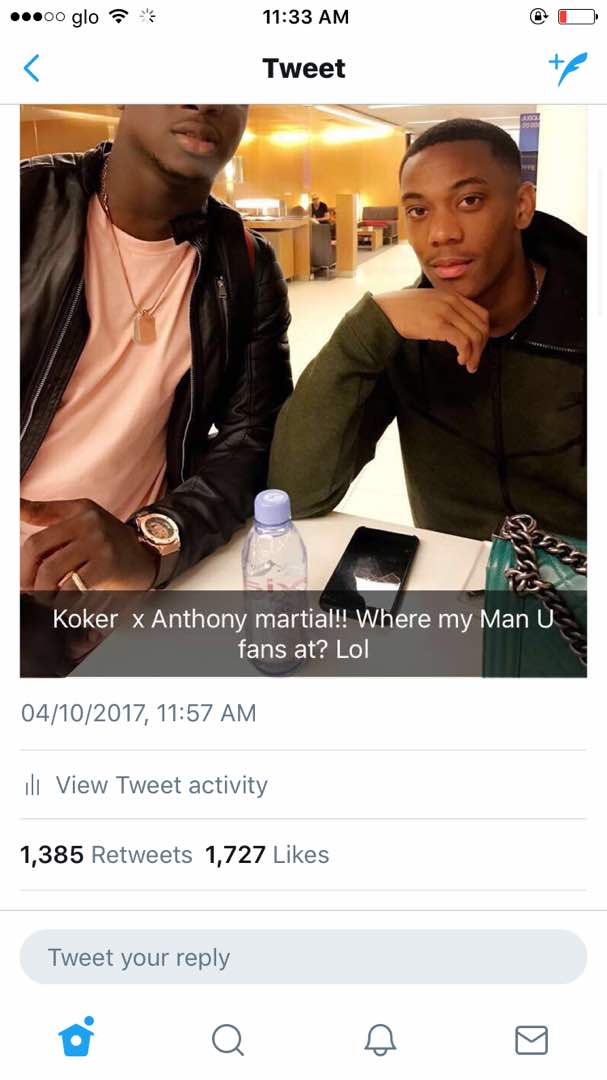 Koker and Man U anthonyMartial