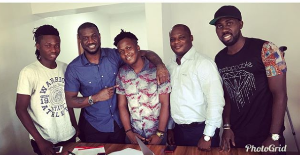 MR P ( peter okoye) signs new act singah to his Pclassic record label