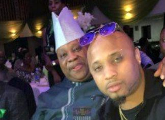 B-Red and his father, Senator Ademola Adeleke. [PHOTO CREDIT: YouTube]