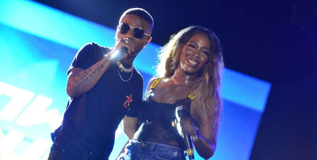 Wizkid & Bestie Tiwa Savage At Patoranking's Album Listening