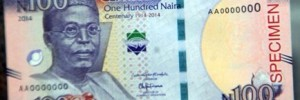Photo: The New 100 Naira Digital Note