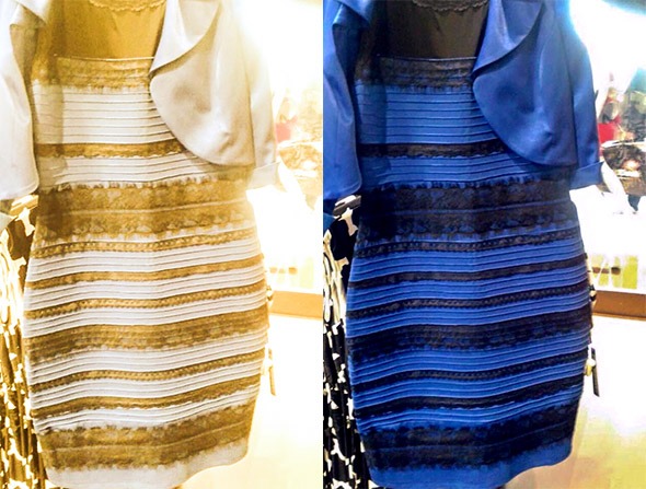 black and blue, white and gold dress