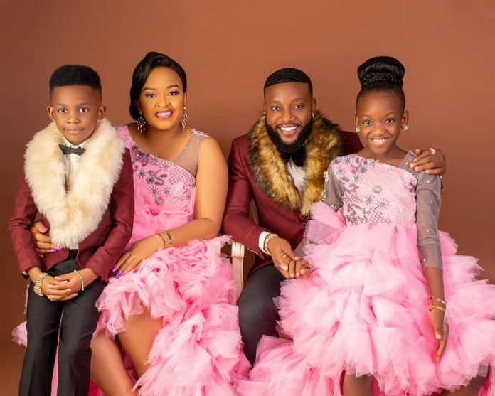 Kcee, his wife, Ijeoma and kids