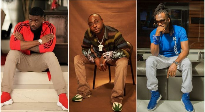 A composite of Mr P, Davido and Rudeboy used to illustrate the story