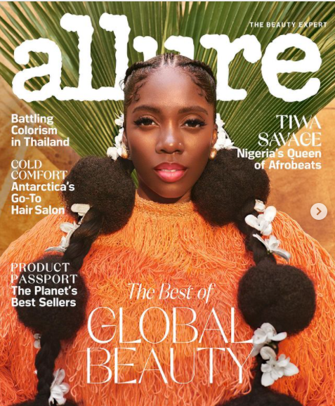 Tiwa Savage on Allure