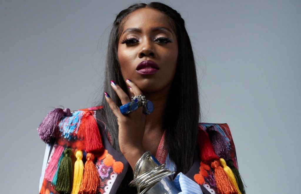 Tiwa Savage posing for the camera
